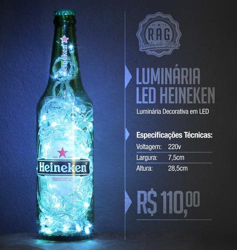luminária especial cerveja | led | rag handmade things