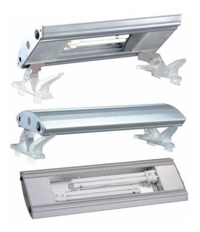 luminária fluorescente boyu plb-90h - 90cm - pl 2x55w