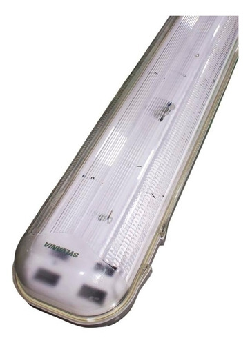 luminaria hermetica 2 x 32 t8 ip65 120v 6.5k con 2tubos sylv