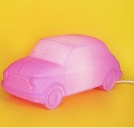 Luminaria Infantil Fiat 500 Rosa Usare