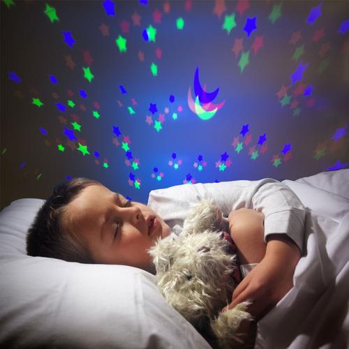 luminaria infantil musical tartaruga projeta estrelas teto