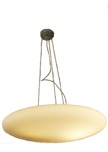 luminaria lámpara colgante vidrio,  para 3 luces le, 60cm.