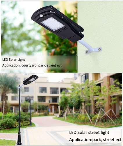 luminaria led 100% solar 40w 6500k integrada solarline