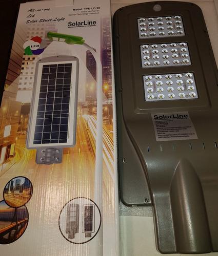 luminaria led 100% solar 60w 6500k integrada solarline