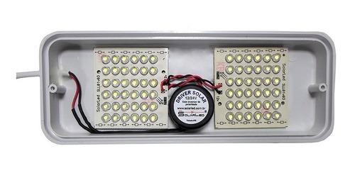 luminária led 12v, luminária led 24v, 72 leds eco