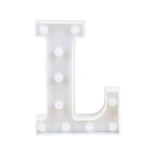luminária led 3d letra/números branca 22cm decoração festa