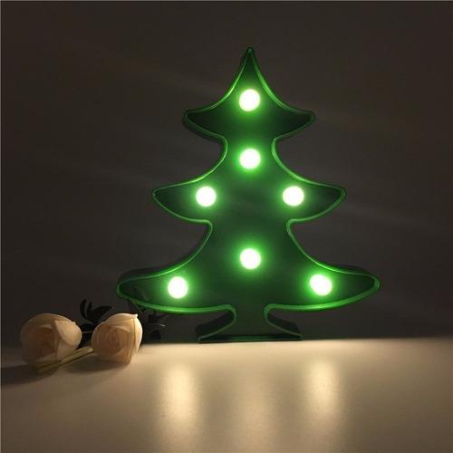 luminária led árvore de natal abajur decoração enfeite festa