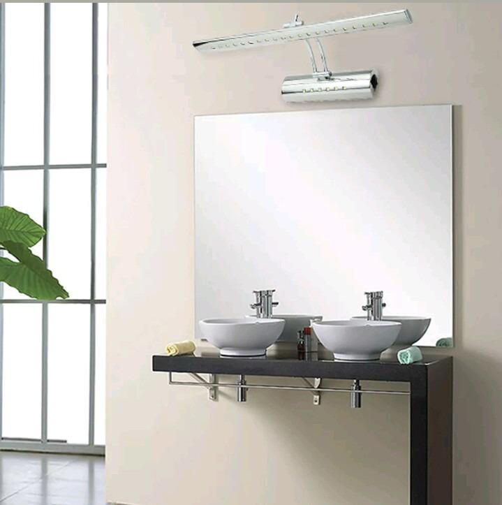 Luminária Led Banheiro Parede Espelho 55cms Cromado B F