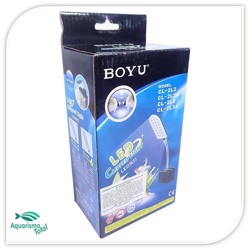 luminária led boyu cl-2l3 branca 21 leds p aquários
