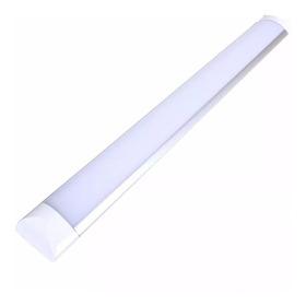 Luminária Led Calha Slim 36w Sobrepor Bivolt Branco Frio