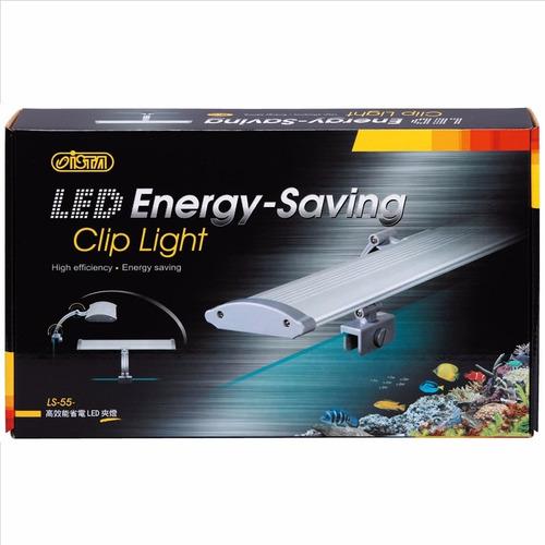 luminária led energy saving clip light 36cm white blue