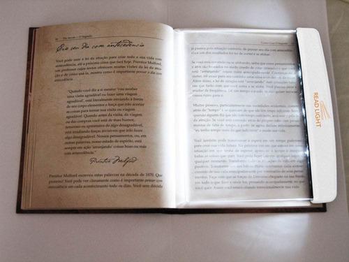 luminária led leitura read light livros lanterna portátil