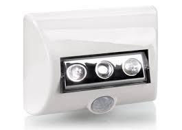 luminaria led nightlux branca c/3 pilhas