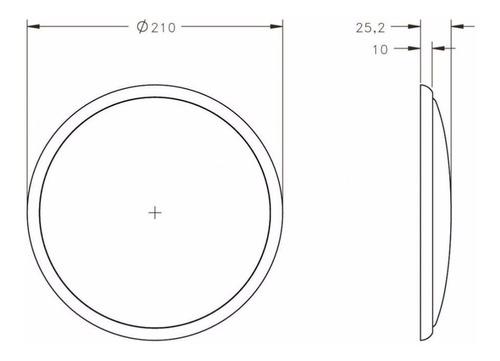 luminária led para motorhome 12v circular 54 led