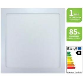 Luminaria Led Plafon Embutir 12w Ilumimax 17x17 Forro Gesso Madeira E Pvc Envio Imediato Modelo Slim