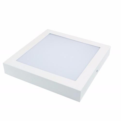 luminaria led quad sobrepor difusor leitoso 25w 6000k rcg