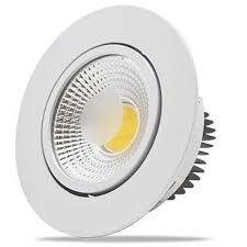 luminária led spot cob redondo 3w 6400k flc