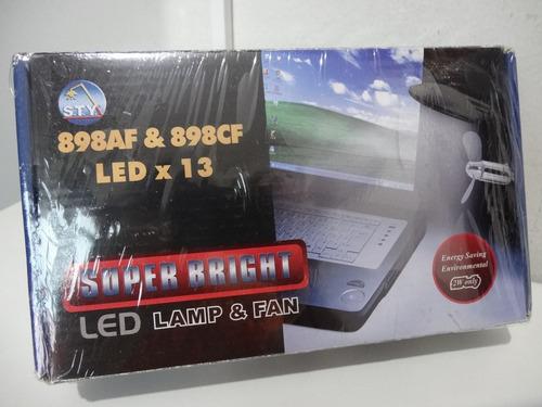 luminaria led super brillhante com ventilador - conexão usb