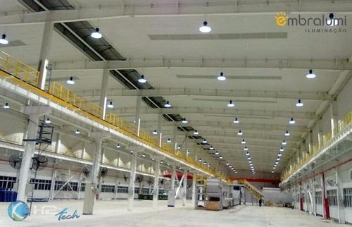 luminária led ufo high bay galpão industrial 100w real