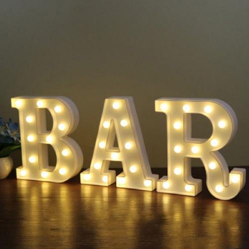 luminária letra d led decorativa luminoso festa decoração