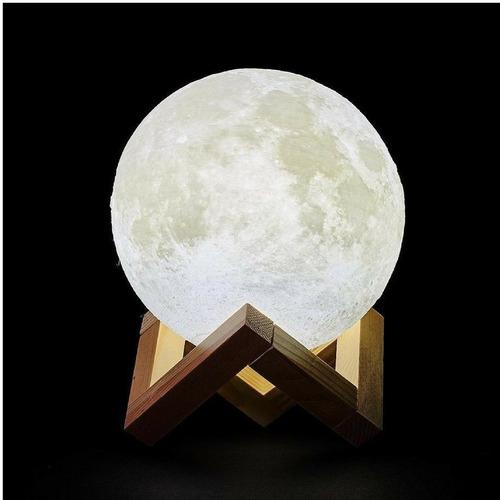 luminária lua cheia 3d cores 15cm usb abajur oferta