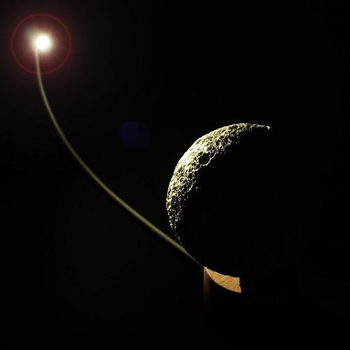 luminária luna 3d com fases da lua/crateras - decoração led