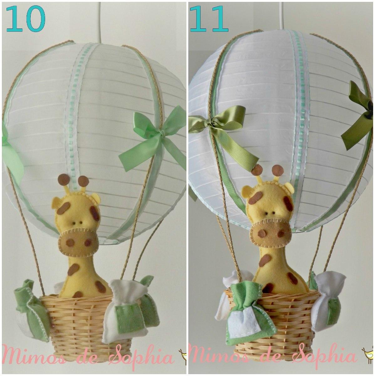 Luminária Lustre Balão Para Quarto Bebê Ou Infantil  ~ Quarto Safari Rosa
