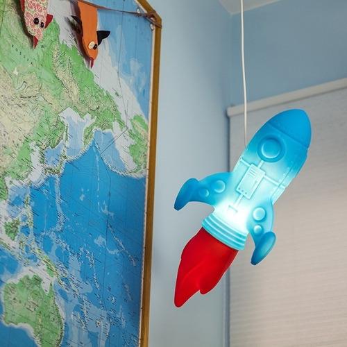 luminária lustre pendente foguete espacial de teto bivolt