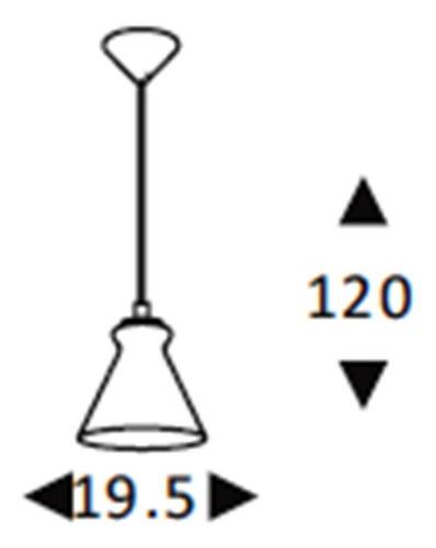 luminária lustre / pendente vidro fumê soprano lt-292v-e