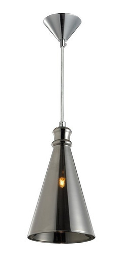 luminária lustre / pendente vidro fumê soprano lt-292v-g