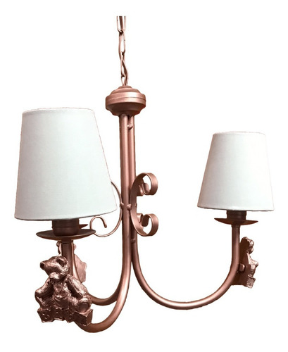 luminária lustre ursinho principe bebê infantil quarto luxo