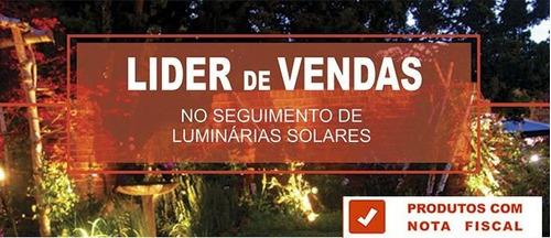 luminária luz solar spot super led grama jardim promoção