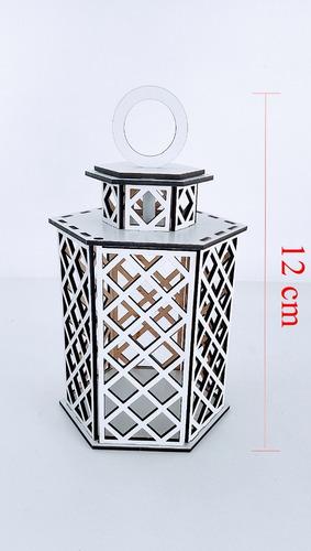 luminária marroquina 12 cm altura em mdf - 10 unidades