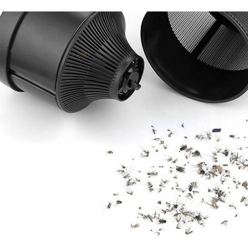 luminária mata mosquito pernilongo led violeta + usb preto