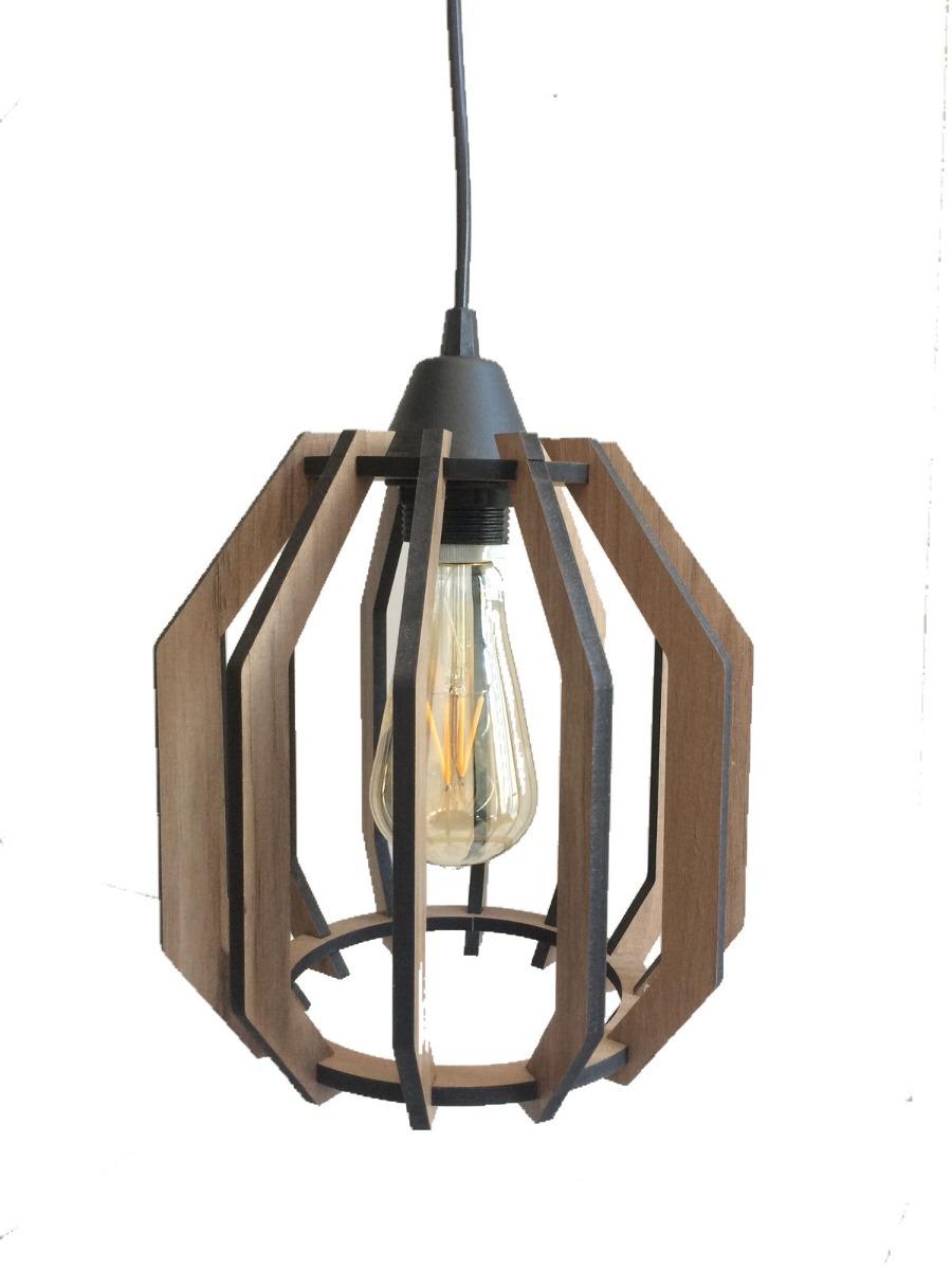 Luminária (mdf) Rustico, Vintage, Retro, Oferta R$ 195,00 em Mercado Livre