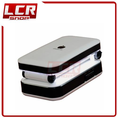 luminaria mesa 24 leds recarregável abajur emergência co03