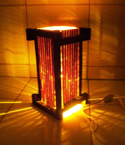 Abajur Luminaria Japones Rustico Sala Quarto Artesanal