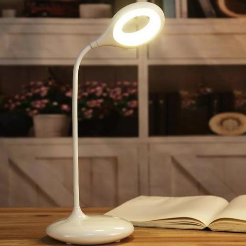 luminaria mesa flexivel touch sem fio 3 níveis luz 14 led