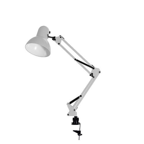 luminária mesa metal abajur lâmpada articulável base garra