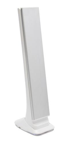luminária mesa recarregável led touch slim dobrável +relógio