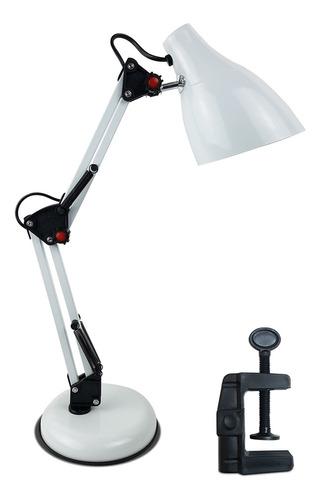 luminaria mesa retro abajur flexivel articulada com garra
