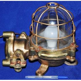 Luminária Náutica Antiga De Porão De Petroleiro Blindada Esp