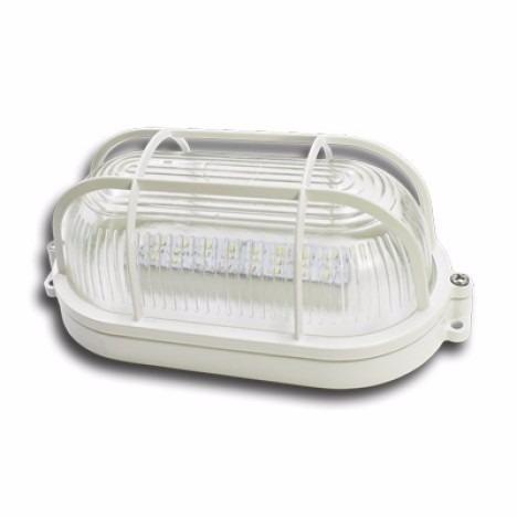 luminária nautica tarta 7w branco quente bivolt led
