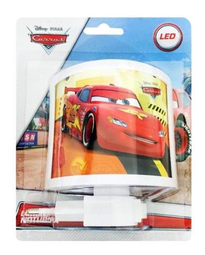 luminária noturna de tomada lâmpada led carros disney bivolt