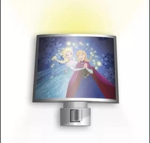 luminária noturna de tomada lâmpada led frozen disney bivolt