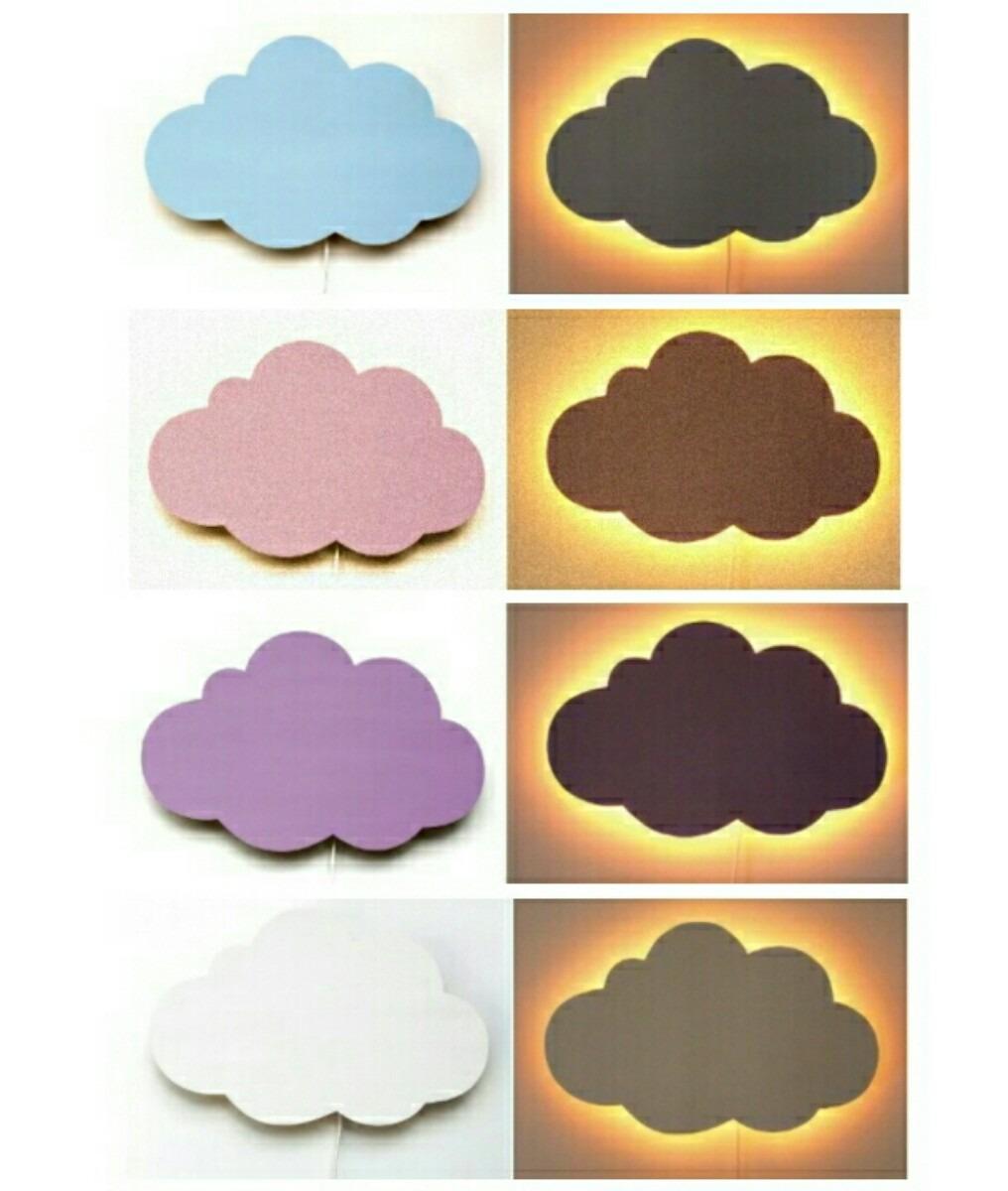 Lumin Ria Nuvem Led Kit Com 3 A Bateria R 360 00 Em Mercado Livre ~ Luminaria A Pilha Para Quarto E Pintura De Quarto De Bebê