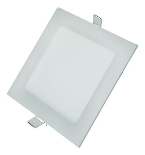 luminária painel plafon led 18w embutir super slim 6000k