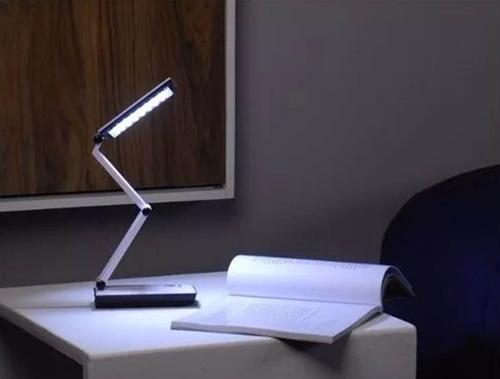 luminária para escritório leitura com 24 leds recarregável
