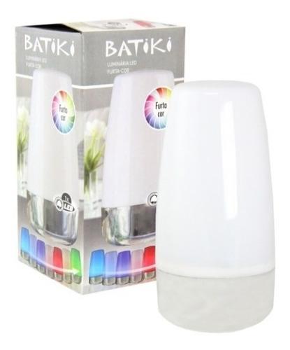 luminaria para escritorio noturna c/ leds luz abajur 7 cores