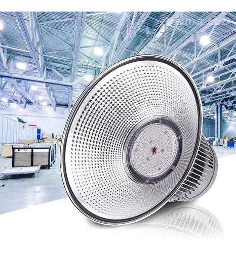 luminária para galpão industrial de led 100w high bay bivolt